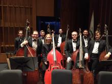 Mikyung Sung and Colburn Orchestra bass section 2016