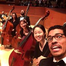 Mikyung Sung with Colburn Orchestra bass section
