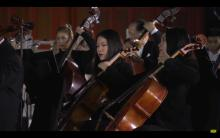 Mikyung Sung playing with the Shanghai Symphony in the Forbidden City 2018