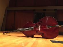 Mikyung Sung's bass in Thayer Hall