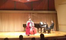Mikyung Sung performing in Thayer Hall 2014