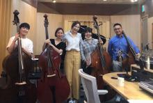 Mikyung Sung with Double Bass Quartet and Yunju Shin on KBS Classic FM Music Room
