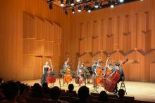 Mikyung sung bowing with 6bass after recital