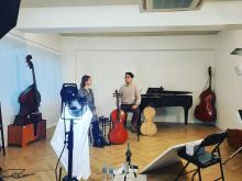 "Mikyung Sung filming ""Into the Instrument"" episode at Studio Atmos"